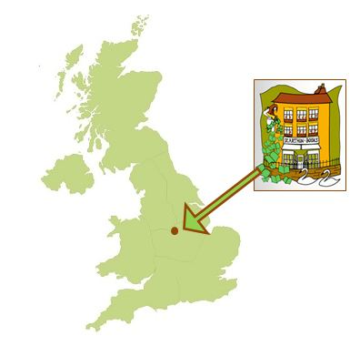 Where Scarthin Book shop in located in the UK